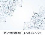 modern futuristic background of ... | Shutterstock . vector #1736727704