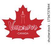 vancouver handwritten city name ... | Shutterstock .eps vector #1736737844