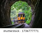 Train With Tunnel Of Pingxi...