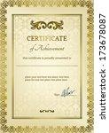 elegant classic certificate of... | Shutterstock .eps vector #173678087