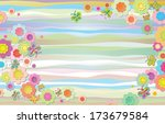 summer horizontal composition.... | Shutterstock . vector #173679584
