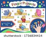 finger puppets. cut and glue...   Shutterstock .eps vector #1736834414