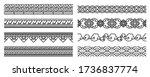 modern thai art line seamless...   Shutterstock .eps vector #1736837774