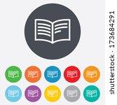 book sign icon. open book... | Shutterstock . vector #173684291