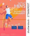 badminton tournament poster... | Shutterstock .eps vector #1736869037