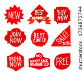 set of different outline... | Shutterstock .eps vector #1736873744