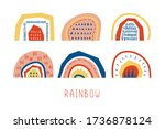 collection of different vector... | Shutterstock .eps vector #1736878124