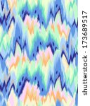 abstract cool ikat wave  ... | Shutterstock .eps vector #173689517