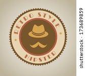 hipster design over  gray... | Shutterstock .eps vector #173689859