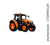 Colorfull Yellow Tractor Vector ...