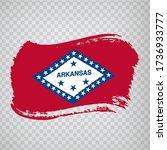 flag of  arkansas from brush...