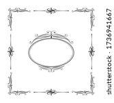hand drawn luxury frame.... | Shutterstock .eps vector #1736941667