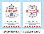 set of vintage 4th of july... | Shutterstock .eps vector #1736954297