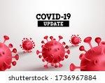 covid 19 update vector banner.... | Shutterstock .eps vector #1736967884