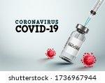 covid 19 vaccine vector banner. ... | Shutterstock .eps vector #1736967944