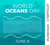 world ocean day campaign. world ... | Shutterstock .eps vector #1736976137