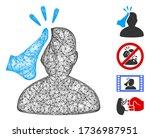 mesh kickboxer web icon vector... | Shutterstock .eps vector #1736987951