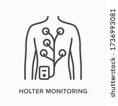 holter monitor flat line icon.... | Shutterstock .eps vector #1736993081