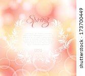 romantic spring bokeh...   Shutterstock .eps vector #173700449
