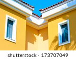 two small windows in the attic... | Shutterstock . vector #173707049