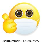 high quality emoticon on white... | Shutterstock .eps vector #1737076997