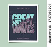 california great waves graphic... | Shutterstock . vector #1737093104
