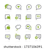 bubble icons    natura series | Shutterstock .eps vector #1737106391