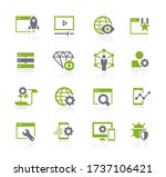 seo and digital martketing... | Shutterstock .eps vector #1737106421