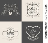 happy valentines day... | Shutterstock .eps vector #173712635