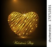 happy valentines day... | Shutterstock .eps vector #173713331
