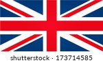 flag of united kingdom | Shutterstock .eps vector #173714585