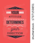 direction and attitude... | Shutterstock .eps vector #1737153851