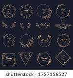 vector floral hand draw ... | Shutterstock .eps vector #1737156527