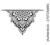 circular pattern in form of... | Shutterstock .eps vector #1737156881