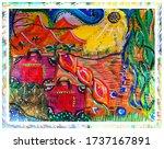 strawberry's journeys  ...   Shutterstock . vector #1737167891