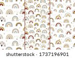 cute collection magic rainbow...   Shutterstock .eps vector #1737196901