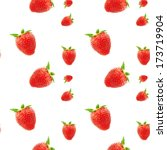 strawberries on a white... | Shutterstock . vector #173719904