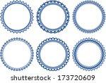 set of round frames  | Shutterstock .eps vector #173720609