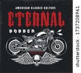custom motorcycle vintage... | Shutterstock .eps vector #1737208961