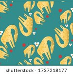 seamless childish pattern with...   Shutterstock .eps vector #1737218177