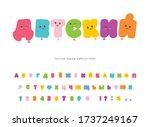 children's catroon cyrillic... | Shutterstock .eps vector #1737249167
