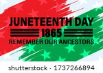 juneteenth freedom day. african ... | Shutterstock .eps vector #1737266894