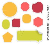 labels and stickers on white... | Shutterstock . vector #173727554
