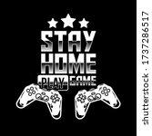 apparel print design for gamer... | Shutterstock .eps vector #1737286517