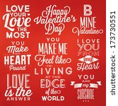 collection of valentine's day... | Shutterstock .eps vector #173730551