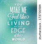 romantic typographic quote  ... | Shutterstock .eps vector #173730584