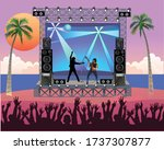 outdoor concert stage on the... | Shutterstock .eps vector #1737307877