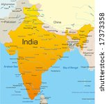 vector map of india country | Shutterstock .eps vector #17373358