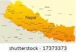 Vector Map Of Nepal Country