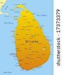 vector map of sri lanka country   Shutterstock .eps vector #17373379